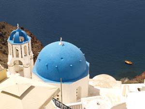 Kerkje in Oia op Santorini