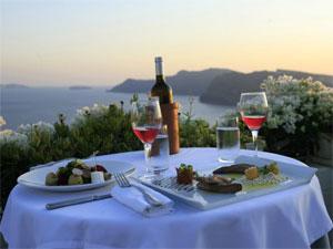 Roofgarden restaurant 1800 Oia Santorini