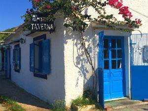Taverna in Acharavi op Corfu Griekenland