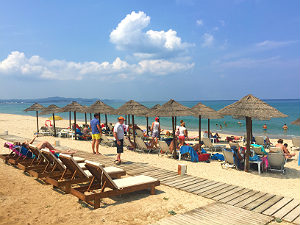 Acharavi Corfu het strand van Almiros