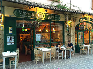 Vineria 36 restaurant in Chania op Kreta