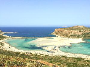 Balos beach bij Chania op Kreta tijdens vakantie