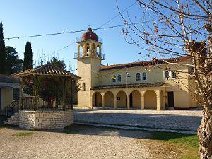 Gouvia kerk tijdens vakantie op Corfu