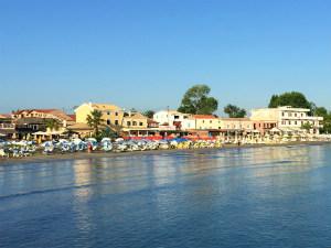 Dorp Roda op Corfu in Griekenland