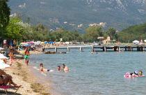 Dassia het strand Corfu
