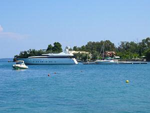 Vakantie in Dassia op Corfu boten in zee