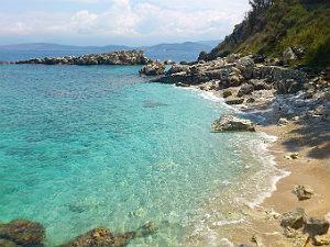 Stranden bij Kassiopi Corfu