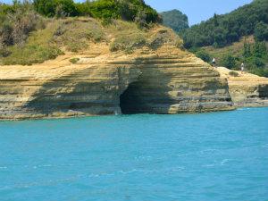 Sidari Canal d'Amour grot op Corfu