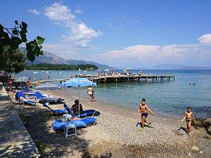 Dassia Corfu het strand en de zee