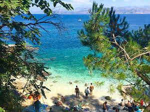 Baaitje bij Kassiopi op Corfu