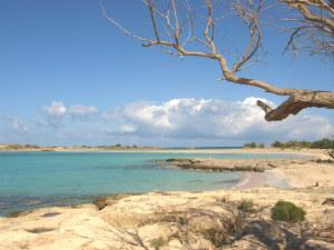 Elafonisi baaien en zee