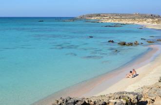 Elafonisi strand op Kreta Griekenland