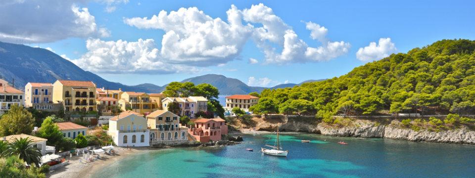 Het pittoreske dorpje Assos op Kefalonia