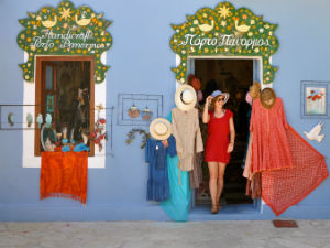 Trendy boutique in Fiskardo op Kefalonia