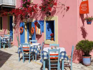 Fiskardo restaurant op Kefalonia