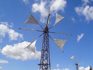 windmolens op het Lassithi plateau