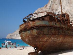 Het scheepswrak op Navagio beach