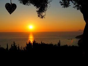 Gaios Paxos zonsondergang Erimitis