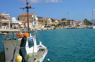 Lixouri op Kefalonia in Griekenland