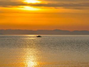 Zonsondergang bij Poros