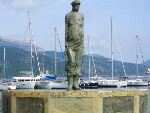 Standbeeld Laskaratos in Sami Kefalonia