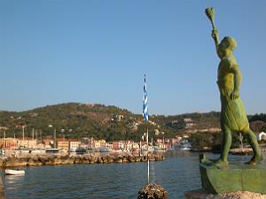 Gaios haven en beeld op Paxos