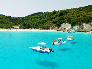 Voutoumi beach op Anti Paxos in Griekenland