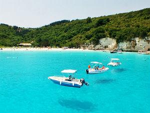 Voutoumi beach op Anti Paxos in Griekenland