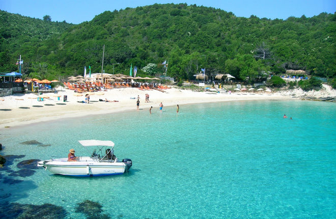 Vrika beach op Anti Paxos tijdens vakantie