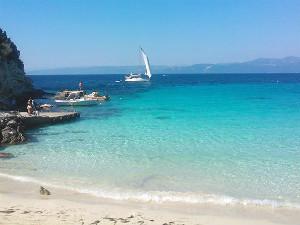 Vrika beach op Anti Paxos