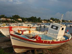 Agios Sostis haven op Zakynthos