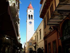 Spiridon kerk in Kerkyra op Corfu