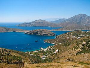 Fraai uitzicht op Fourni Griekenland