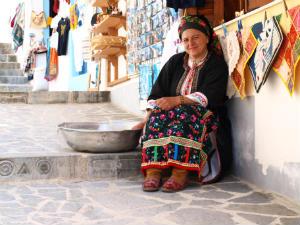 Traditionele klederdracht Olympos