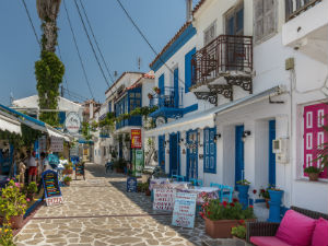 Kokkari Samos gezellige terrasjes