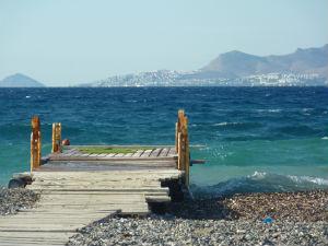 Uitzicht op Turkije vanaf Psalidi