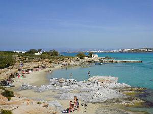 Kolymbithres beach bij Naoussa op Paros