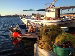 Paros Naoussa vissersboten