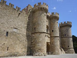 Rhodos stad het Paleis van de Grootmeesters