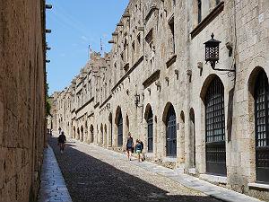 Ridderstraat in Rhodos stad