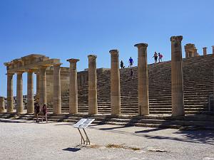 Akropolis van Lindos op het eiland Rhodos