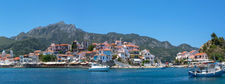 Kokkari op Samos tijdens vakantie