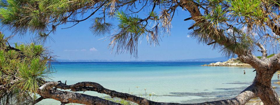 Vourvourou beach op Chalkidiki Griekenland
