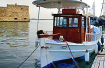 Oude haven en fort in Heraklion Kreta