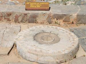 Offertafel in het oude paleis in Malia