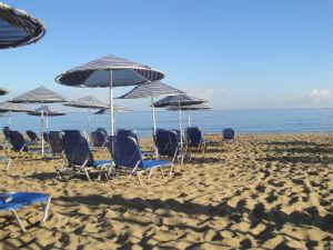 Malia beach op Kreta