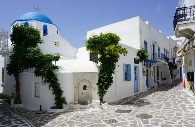 Parikia vakantie op Paros in Griekenland