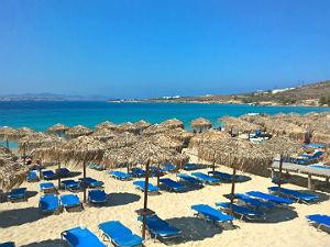 Martselo beach bij Parikia Paros