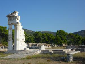 Epidaurus Hygeia Tempel met zuilen