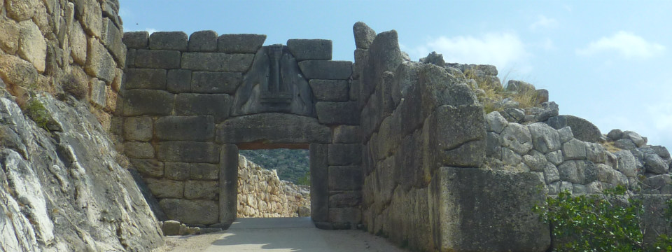 Peloponnesos vakantie Mycenae Lions gate header.jpg
